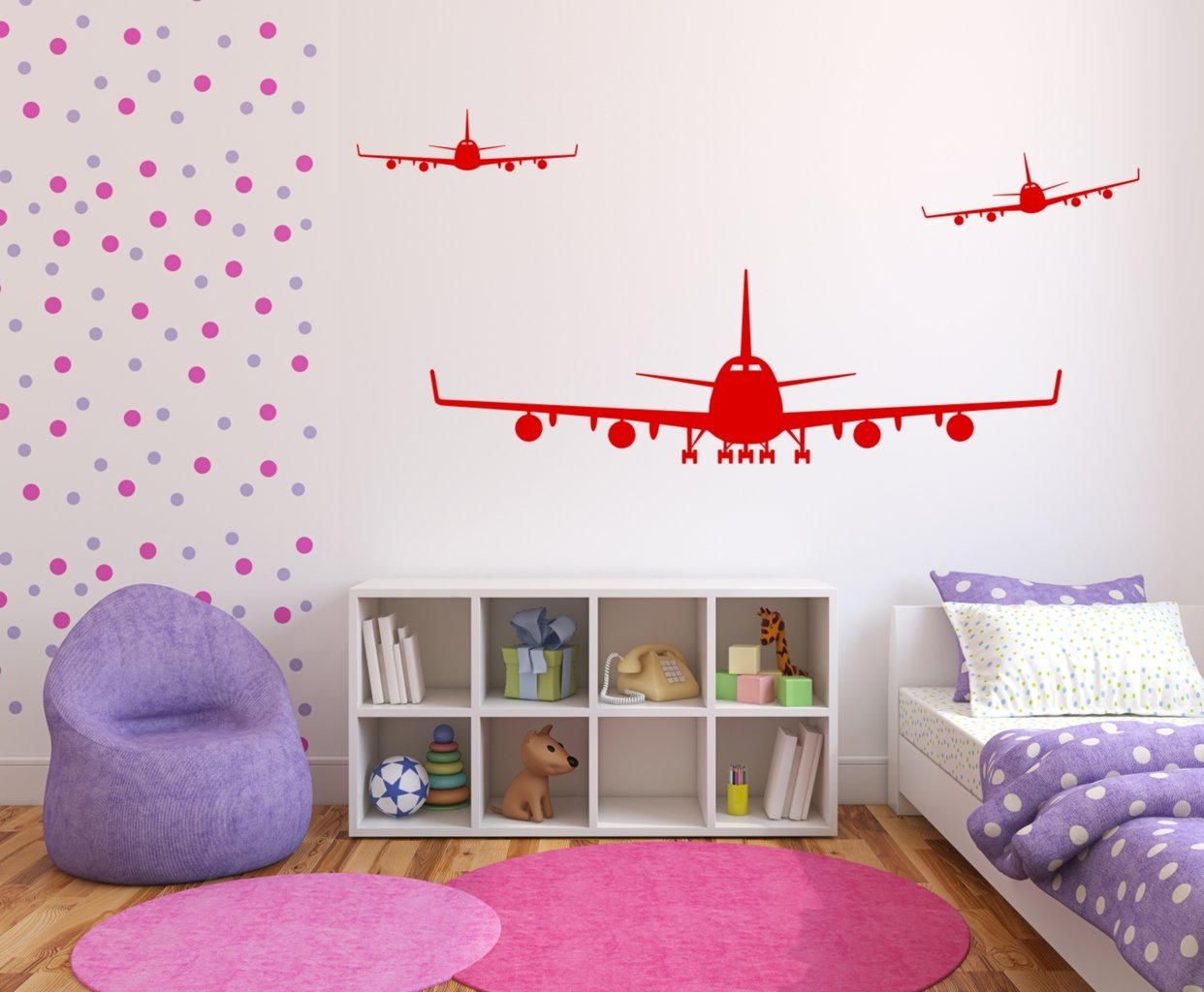 wandtattoo flieger flugzeug set 558 kinderzimmer wandtattoos. Black Bedroom Furniture Sets. Home Design Ideas