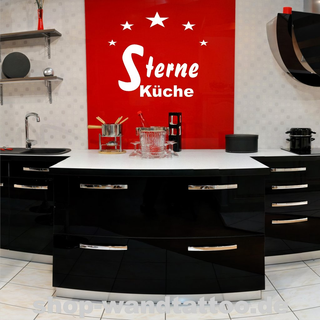 wandtattoo sterne k che 572 wandtattoo f r die k che. Black Bedroom Furniture Sets. Home Design Ideas