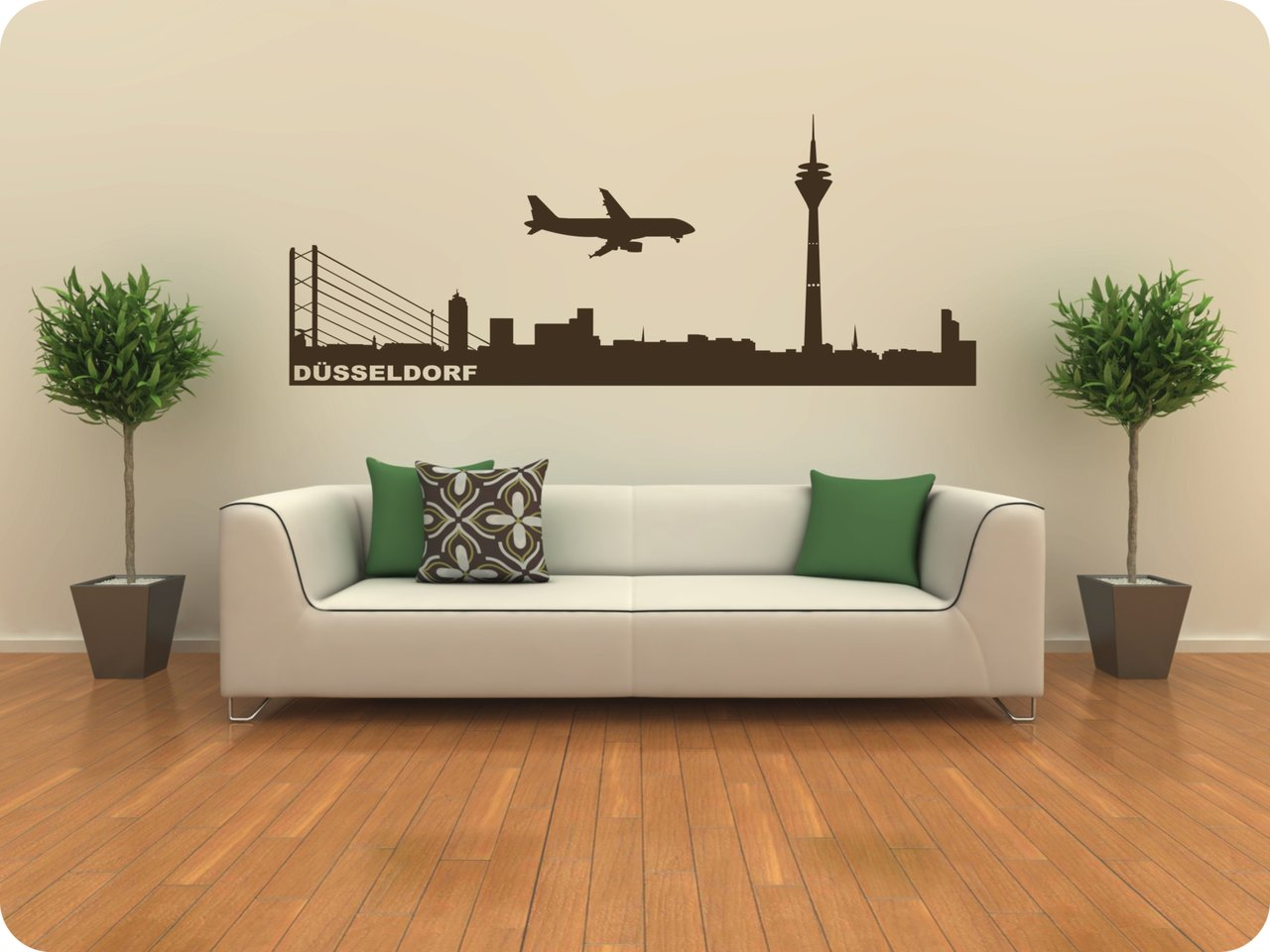 wandtattoo skyline d sseldorf 418 beliebte wandtattoos. Black Bedroom Furniture Sets. Home Design Ideas