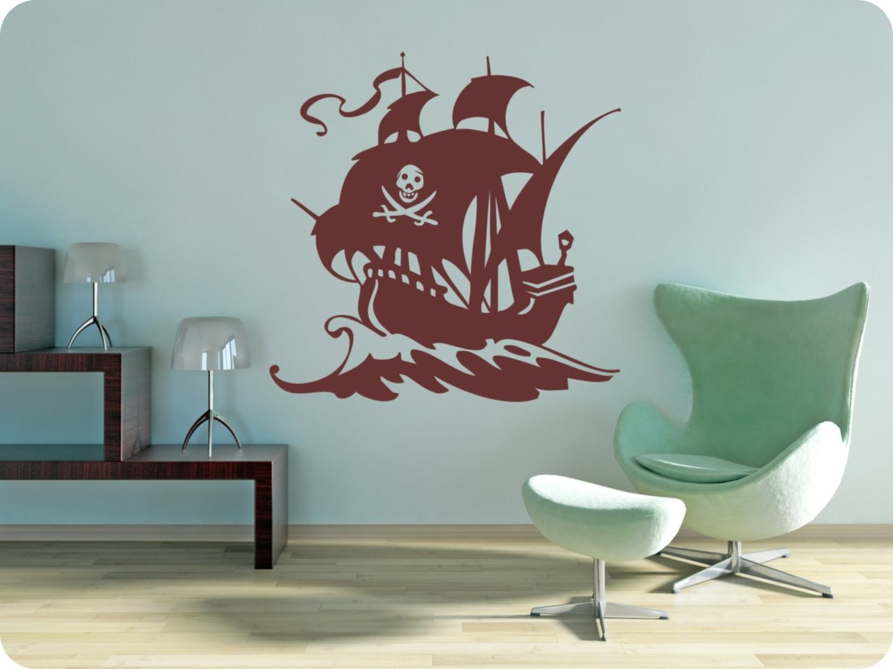 wandtattoo piratenschiff 327 1 wandsticker wandtattoos. Black Bedroom Furniture Sets. Home Design Ideas