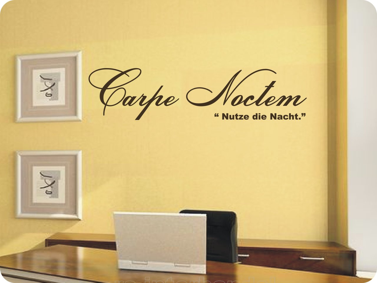 wandtattoo carpe noctem exclusive wandtattoos. Black Bedroom Furniture Sets. Home Design Ideas