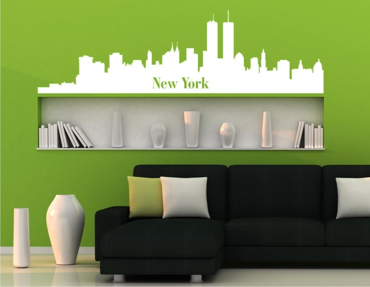 wandtattoo skyline newyork beliebte wandtattoo und glasaufkleber. Black Bedroom Furniture Sets. Home Design Ideas