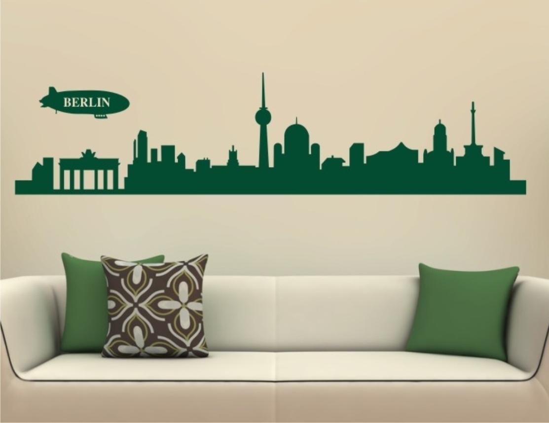 wandtattoo skyline berlin 108 wandtattoo und glasaufkleber. Black Bedroom Furniture Sets. Home Design Ideas
