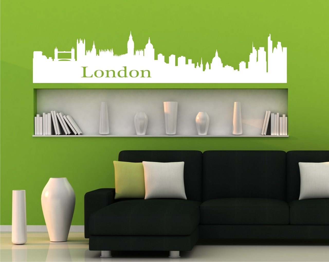 wandtattoo skyline london wandtattoos und fensterfolien. Black Bedroom Furniture Sets. Home Design Ideas