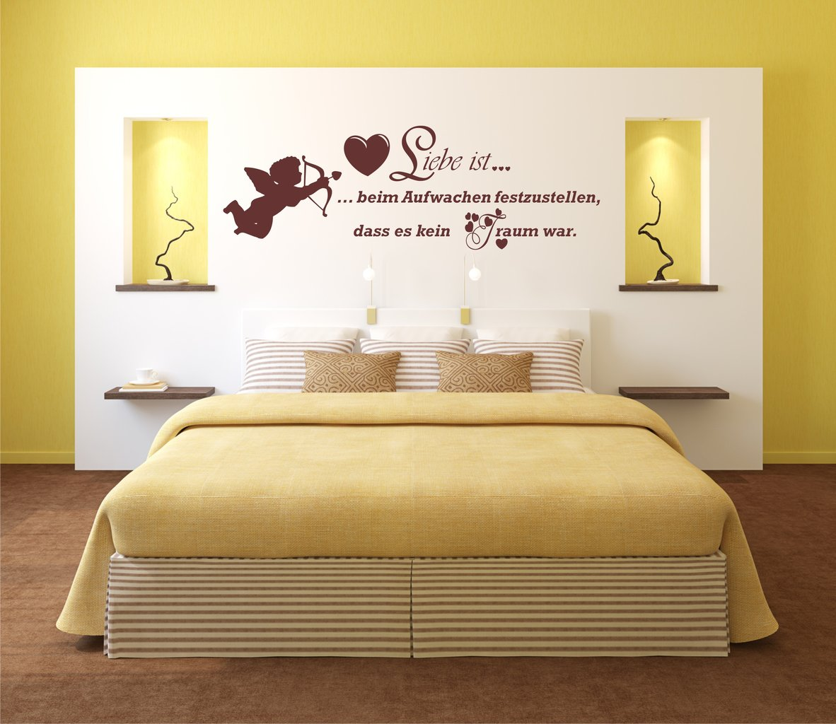 g nstiges wandtattoo 900 liebe engel wandsticker schlafzimmer liebe aufkleber ebay. Black Bedroom Furniture Sets. Home Design Ideas