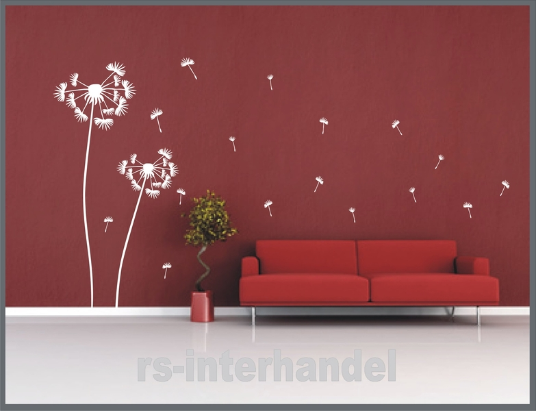 pusteblume 180cm und 200cm als wandtattoo wandsticker. Black Bedroom Furniture Sets. Home Design Ideas