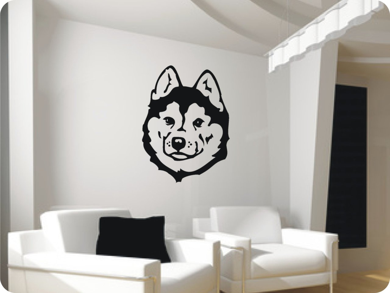 wandtattoo husky 413 wandsticker wandtattoos. Black Bedroom Furniture Sets. Home Design Ideas