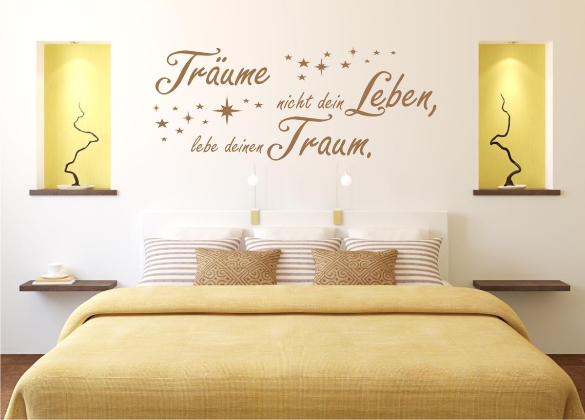 Träume nicht dein Leben.. als Wandtattoo 324 Schlafzimmer Spruch ...