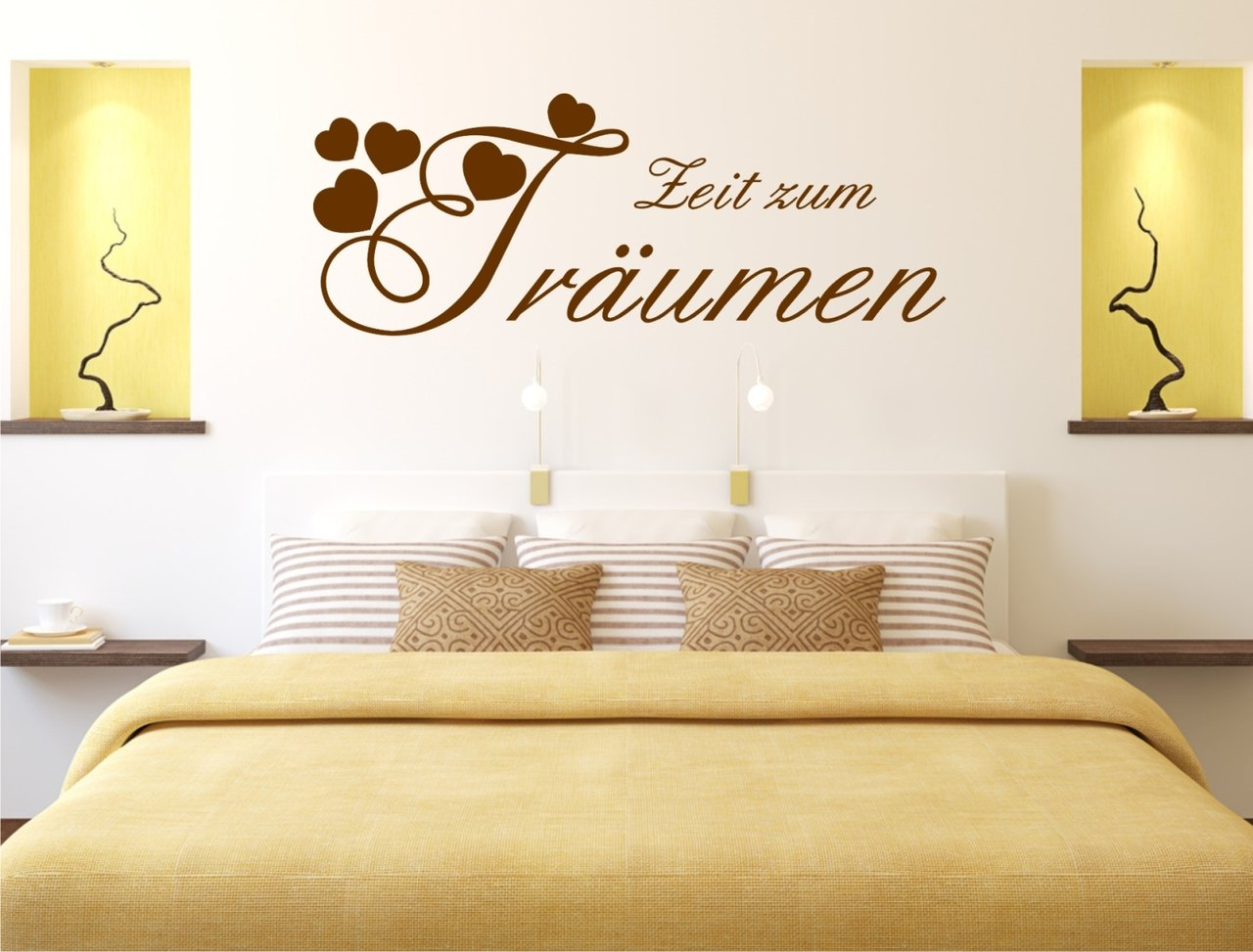 zeit zum tr umen wandtattoo f r ihr schlafzimmer. Black Bedroom Furniture Sets. Home Design Ideas