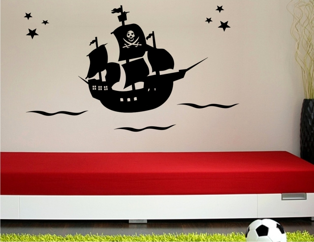 piratenschiff wandtattoo kinderzimmer wandaufkleber geschenk g nstig ebay. Black Bedroom Furniture Sets. Home Design Ideas