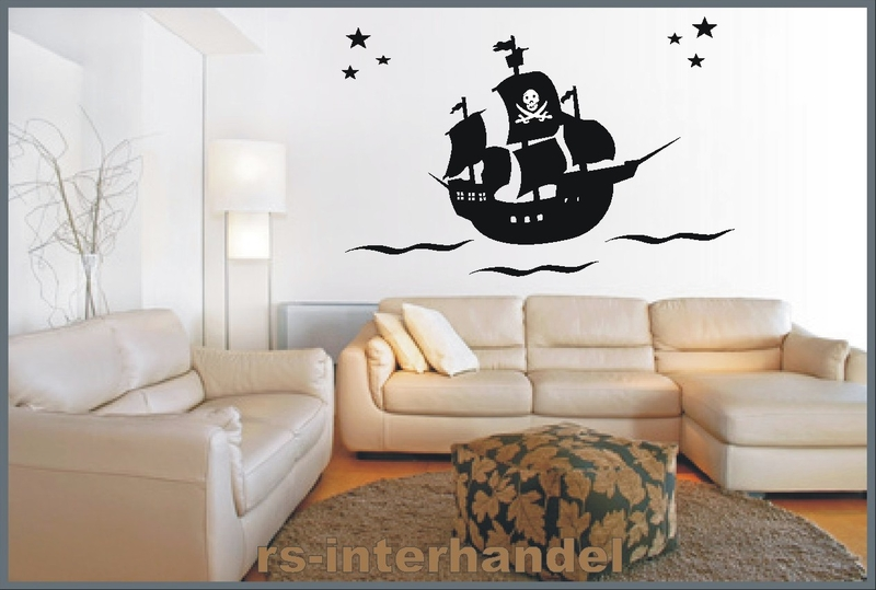 piratenschiff als wandtattoo aufkleber und glasaufkleber. Black Bedroom Furniture Sets. Home Design Ideas