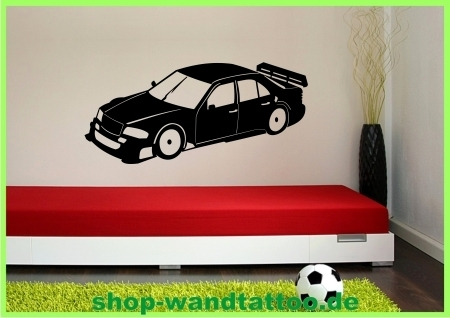 wandtattoo rennwagen 521 kinderzimmer wandtattoo. Black Bedroom Furniture Sets. Home Design Ideas