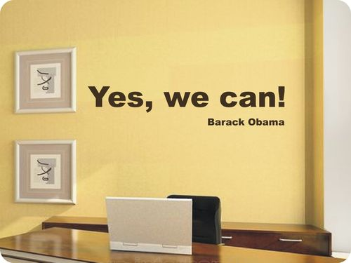 Spruch Yes we can!  Barack Obama   (429) als Wandtattoo