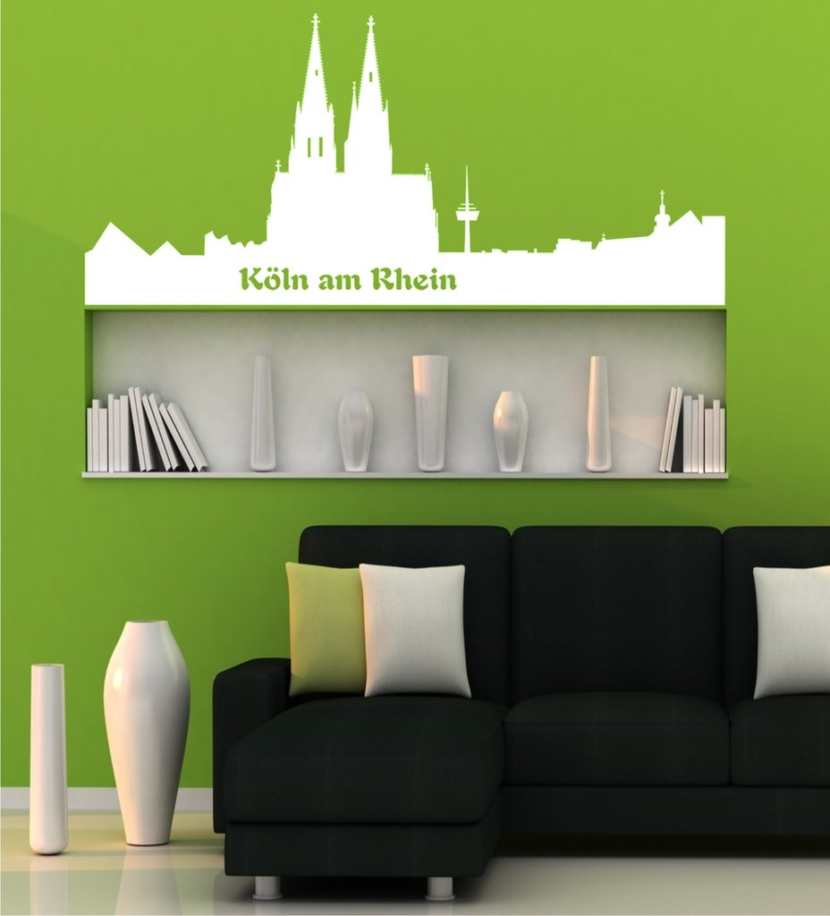 wandtattoo skyline k ln am rhein wandtattoo und glasaufkleber. Black Bedroom Furniture Sets. Home Design Ideas