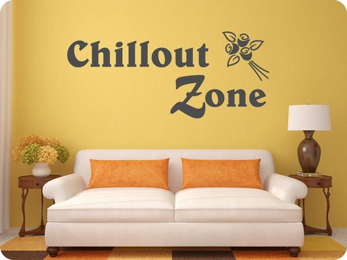 """Chillout Zone"" als Wandtattoo"
