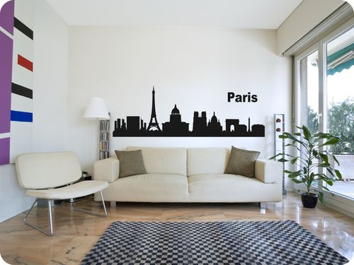 "Skyline ""Paris"" als Wandtattoo"