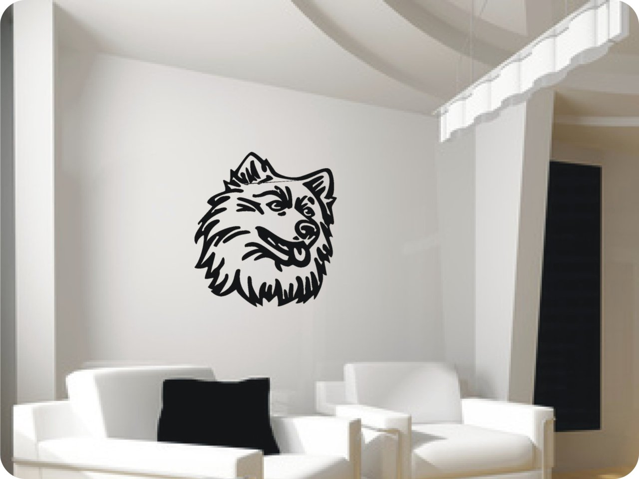 wandtattoo husky 412 wandsticker wandtattoos. Black Bedroom Furniture Sets. Home Design Ideas